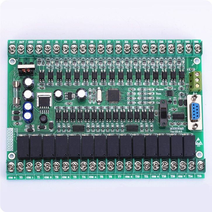 PLC manual board FX2N 30MR 30MT online download monitoring can be connected to the touch screen text