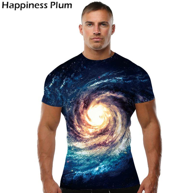 Galaxy chemise espace T Shirt hommes à manches courtes 3d T-shirts imprimer nébuleuse T-shirt mode marque vêtements été hauts T-shirts Cool Sim
