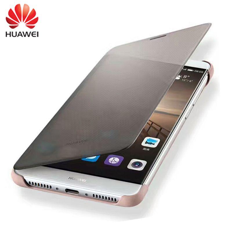 100% D'origine Cas pour HUAWEI Mate9 Cas De Luxe Smart View Flip Couverture En Cuir De Protection shell Pour Huawei Compagnon 9 (5.9