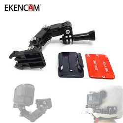 EKENCAM 4 Ways Turntable Buckle Mount Base for SJCAM SJ4000 Xiaomi Yi 4K GoPro HERO 6 5 4 Session Helmet Chest Strap
