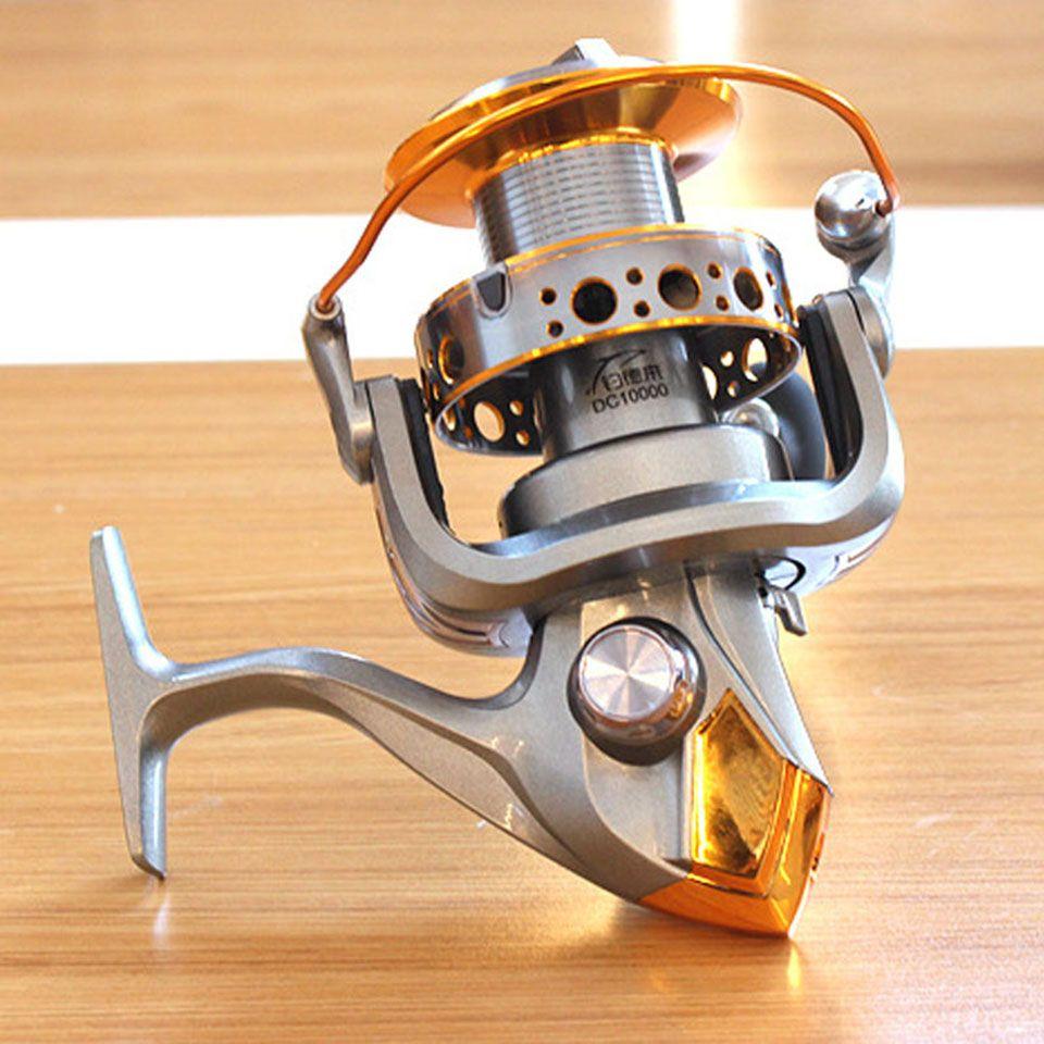 12+1BB 5.1:1 Fishing Reel Jigging Trolling Long Shot Casting For Carp And Salt Water Surf Spinning Big Sea 9000/10000 Size DC