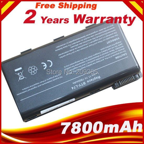 9 Cells bty l74 BTY-L74 Laptop Battery For MSI A5000 A6000 A6200 CR600 CR600 CR620 CR700 CX600 CX700 All Series MSI CX620