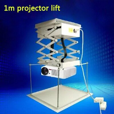 1 Mt Projektor halterung motorisierten elektro lift schere mit Fernbedienung Elektrische Deckenhalterung Für Kino Kirche Halle Schule
