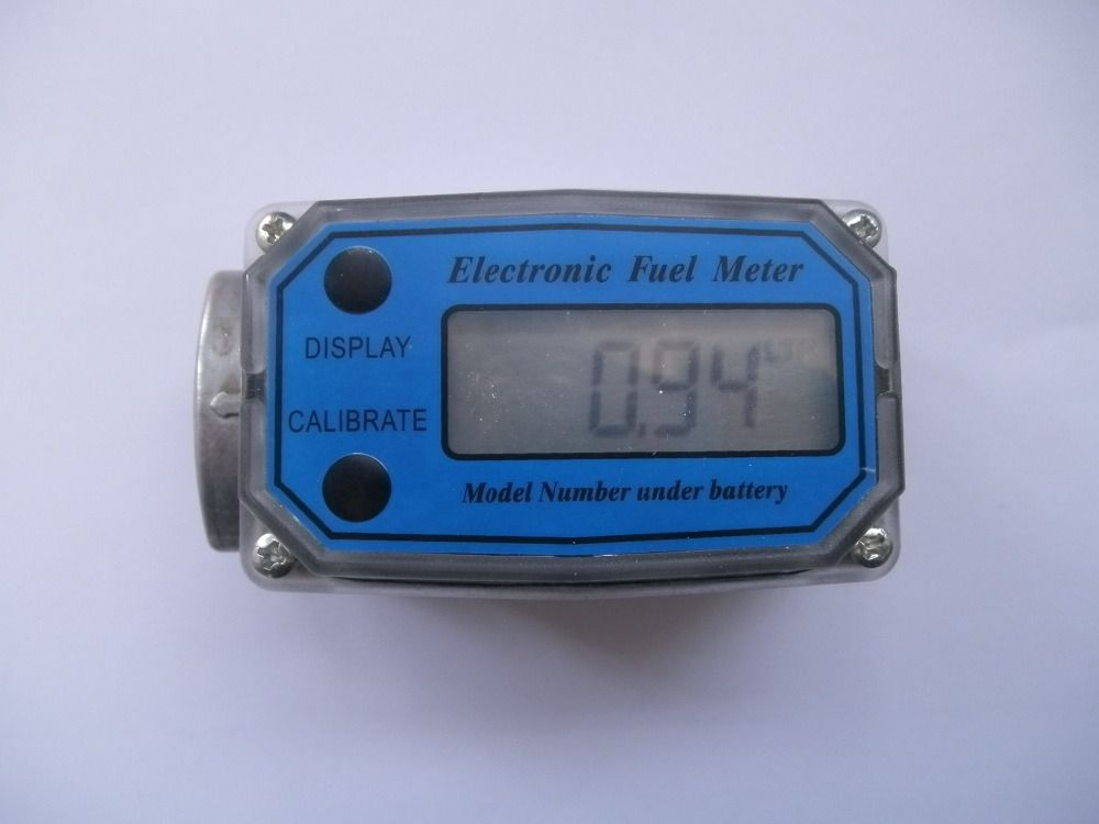 Digital Turbine Flow Meter Flowmeter Gauge Caudalimetro Electronic Flow Indicator Sensor Counter Petrol Fuel Plomeria Water DN25