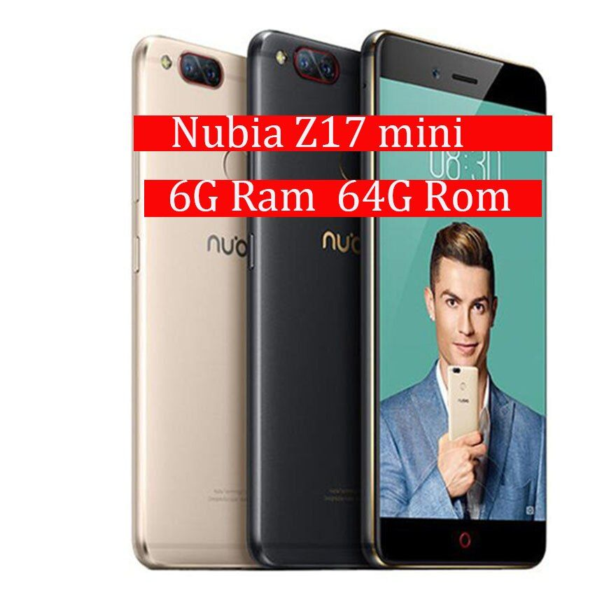 Global Firmware ZTE Nubia Z17 MiniS 6GB RAM 64GB ROM Mobile Phone Snapdragon Cellphone Dual Camera FDD LTE 4G Support NFC OTA