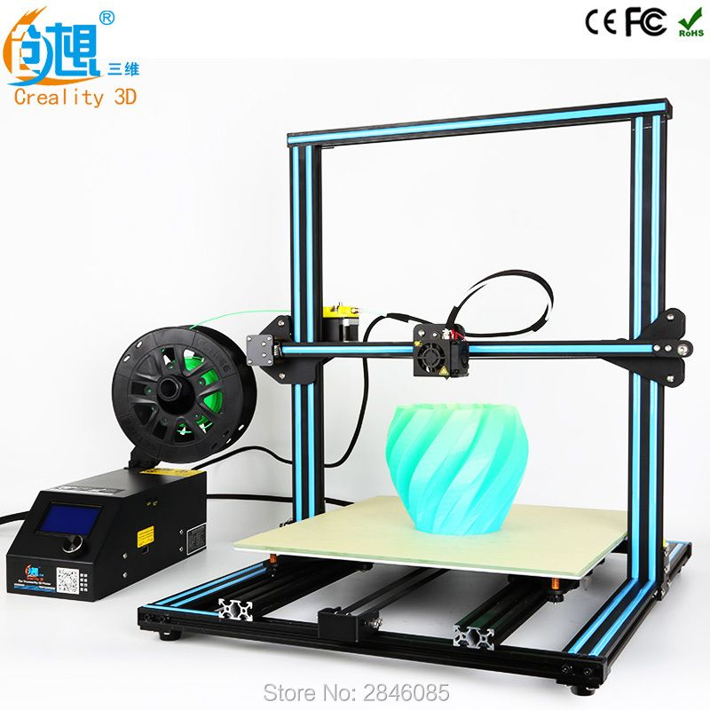 2018 CREALITY 3D Printer Upgrade CR-10 5S Large Printing Size 500*500*500mm Dual Rod DIY Kit Filament Touch/Normal LCD Option