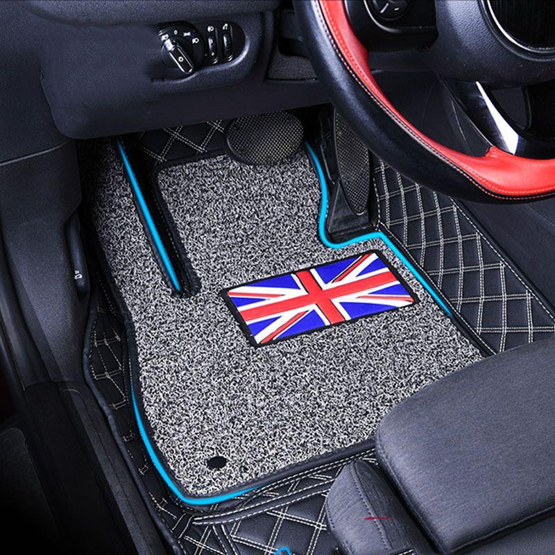 1 Satz Auto Fußmatten Pad Vorne Hinten Liner Matte Doppel schicht Für Mini Cooper F54 Clubman F55 F56 F60 Countryman Auto zubehör