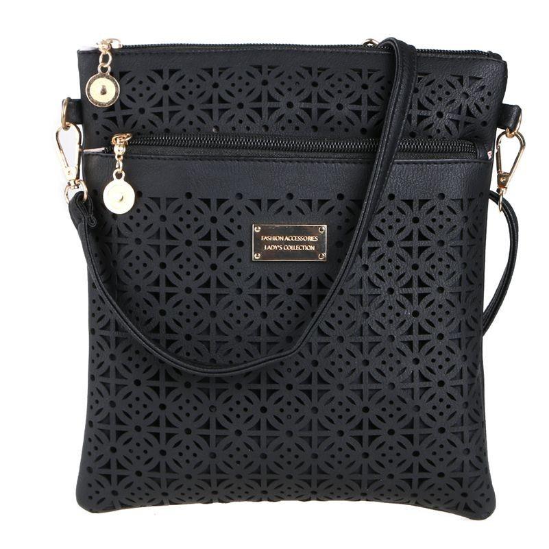 Décontracté femmes Messenger sacs 2019 Mini PU évider sacs à bandoulière dames sac à main et sacs à main bolsas feminina embrayages