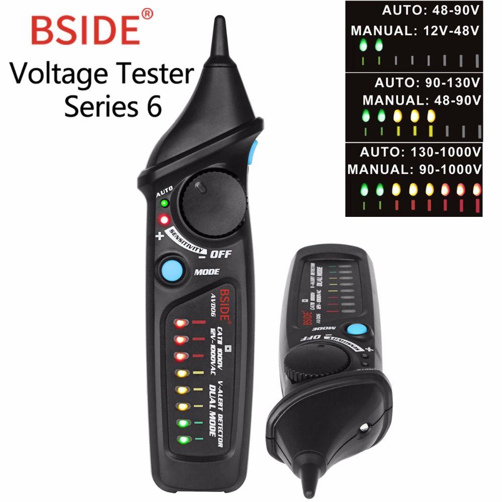 Non-Contact Voltage Detector BSIDE AVD06 AC Voltage Test Pen Tester LED Light Voltage Indicator 12-1000V Adjustable sensitivity