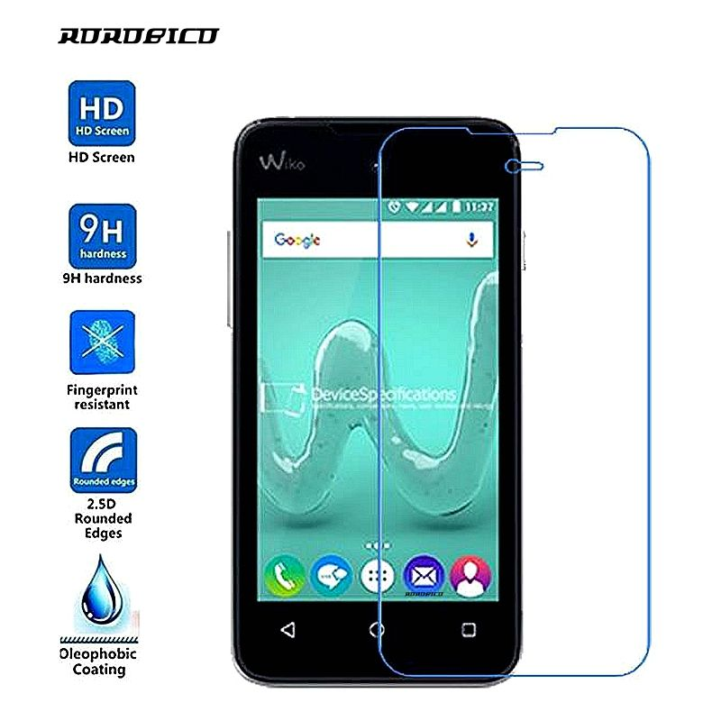 ROROBICO 0.26mm 2.5D 9H Premium Front Film Tempered Glass For Wiko Sunset 2 Screen Protector Toughened film For Wiko Sunset2
