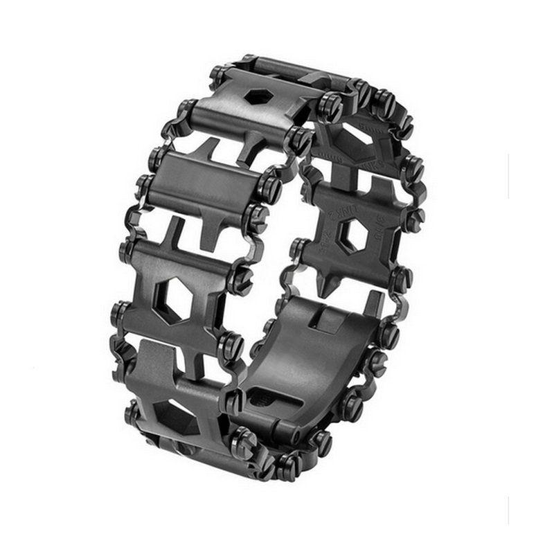 Bracelet 304 Acier Inoxydable Walker Portable Multifonctionnel Outils Punk En Plein Air Tournevis Bracelets Ouvre Kitsc