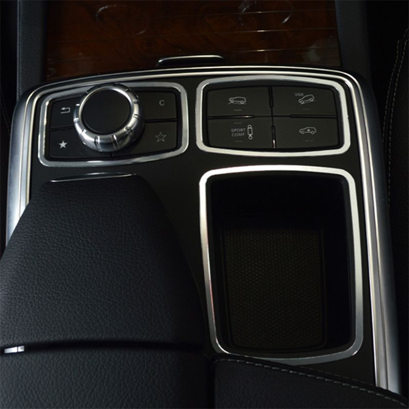 Car styling vehicle interior stickers interior control panel center console cover Auto Trim for Mercedes benz GLE ML W166 GL GLS