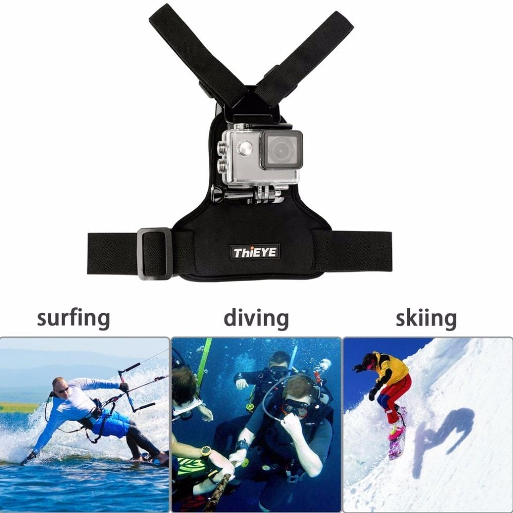 ThiEYE Universal Adjustable Chest Strap DV Mount Band Belt Fix Accessories Support Tripod For ThiEYE Sports Action Camera