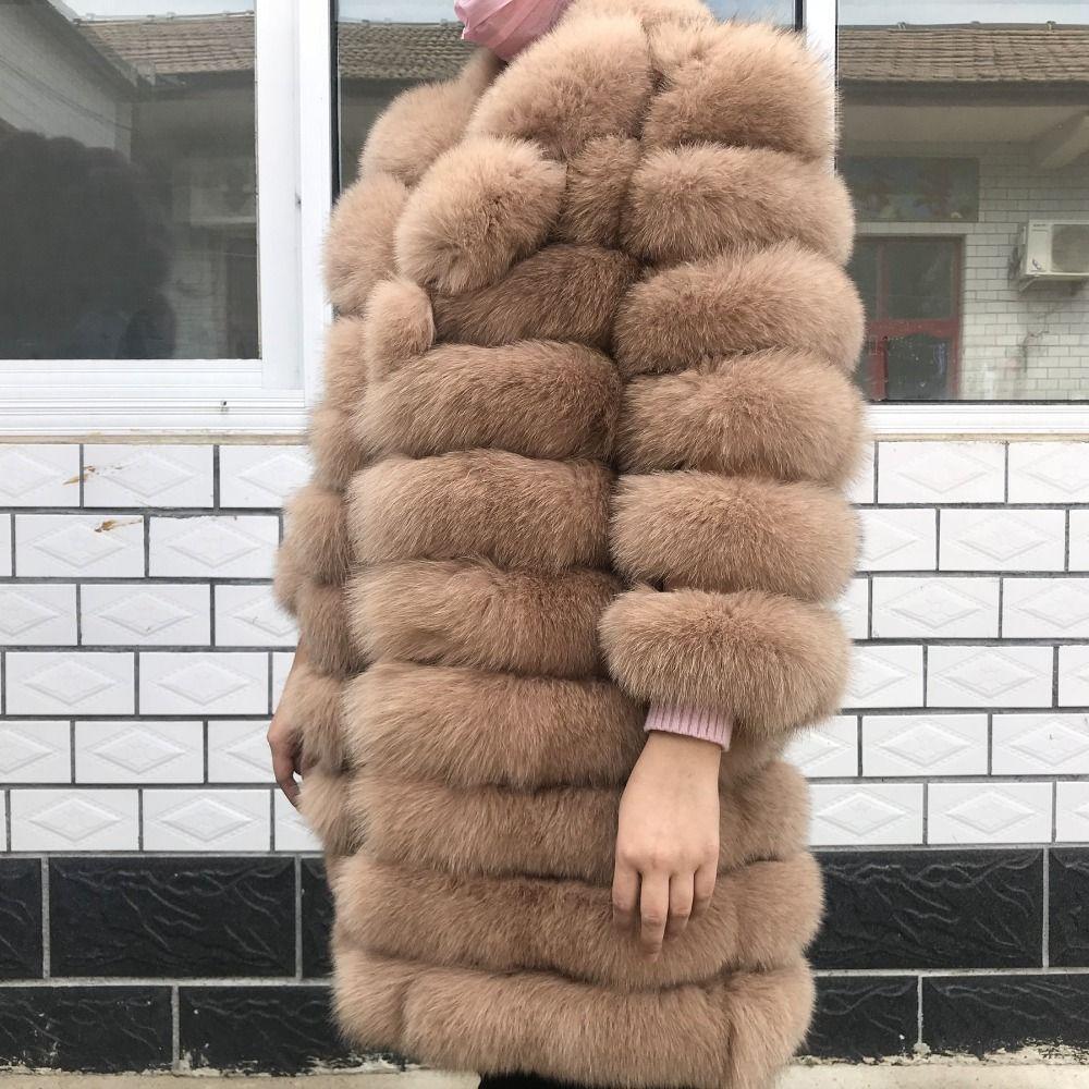 Natürliche Fuchs Pelz Mantel 100% Echt Fox Pelz Weste Jacke 2019 frauen ziemlich Warm Mantel. Natürliche Echt Pelzmantel Echt Pelz Mäntel