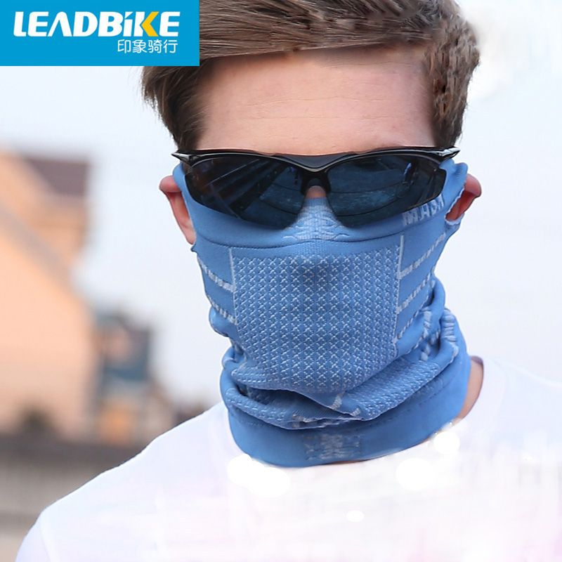 Leadbike New Anti Cold Mask Warm Winter Ski Portable Bike Bicycle Cycling Sports Half Face Neck Mask With Ear Hole For Men/Women