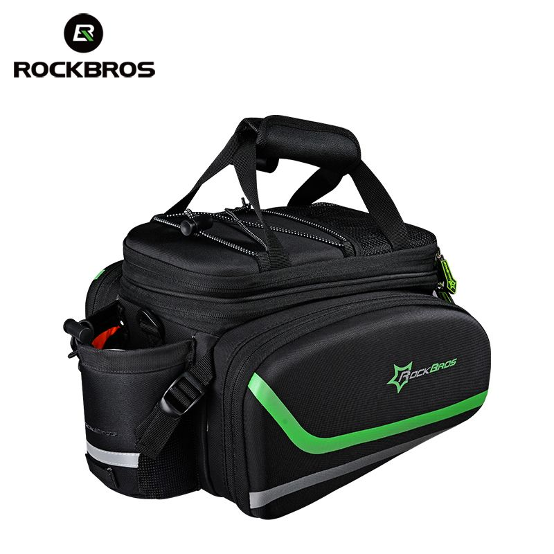 ROCKBROS Bicycle bag Outdoor Sports Cycling Bike Bicycle Bag Multifunctional Cycling Frame Rack Pack Large Capacity Travel Bag