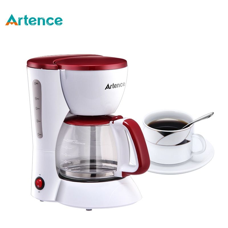 High-quality Automatic Electric Coffee Maker 5 Cups Espresso White Drip Coffee Machine With Water Window