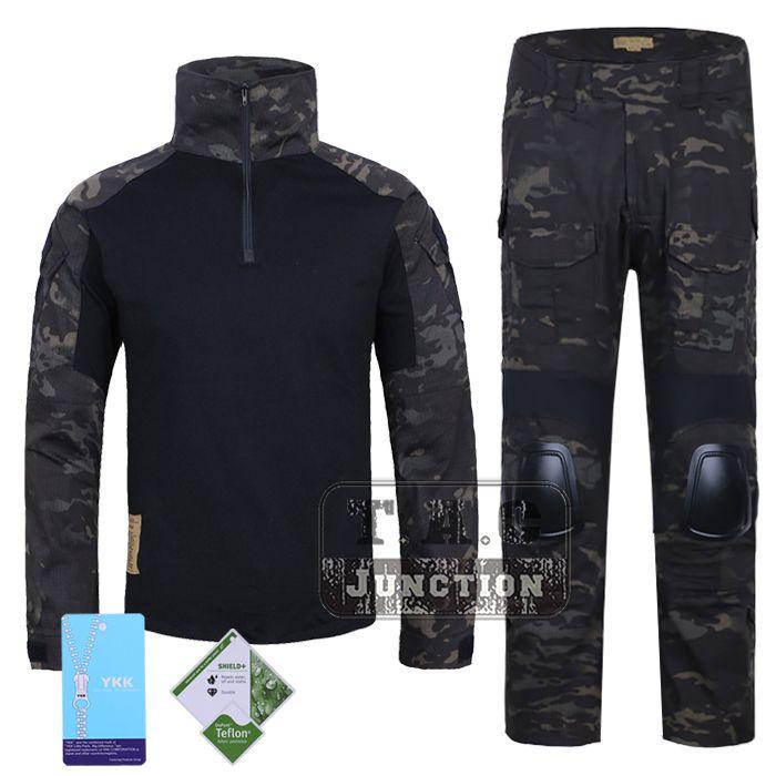 Emerson G2 Combat Shirt & Hosen Tops + Hosen w/Ellenbogen & Knie Pads Set Tactical Military Airsoft EmersonGear GEN 2 BDU Uniform