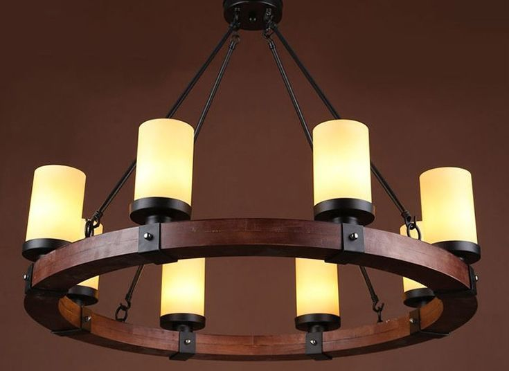 Europe Country 6/8 Heads Chandelier American Retro Lamps Home Decoration Lighting Dinning Room Lights E14 110-240V WPL194
