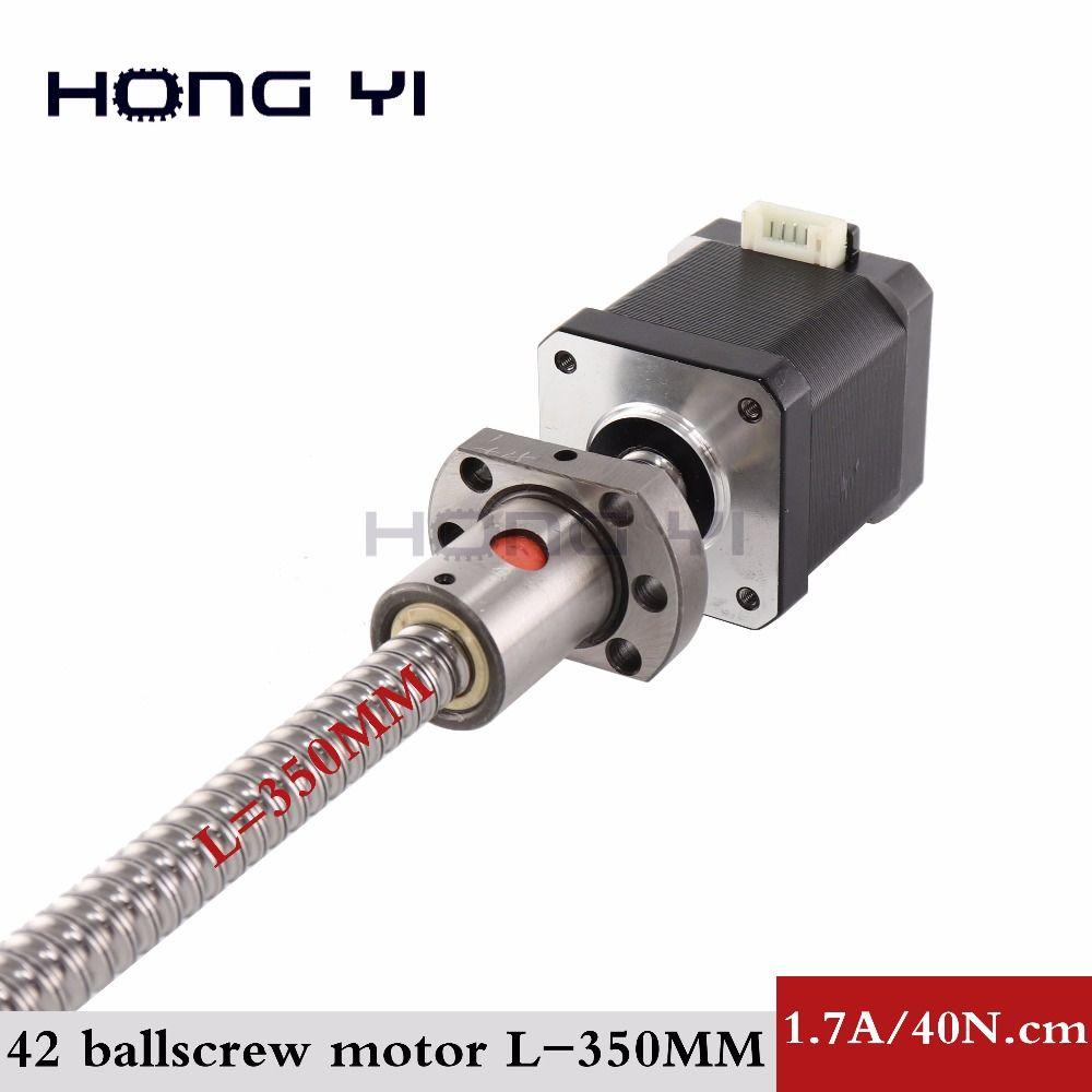 Nema17 ball screw Stepper Motor 42 motor 42BYGH 1.7A motor ball screw SFU1204 L350MM for CNC 3D printer 4-lead 17hs4401s