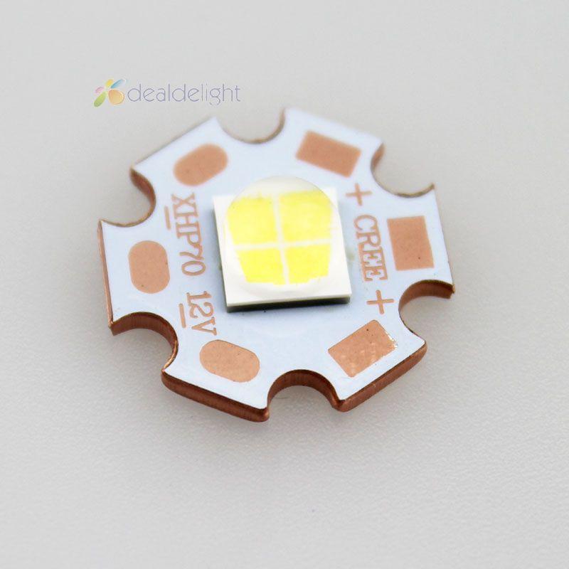 Cree xhp70 blanco 6500 K n4-1b 6 V o 12 V en sinkpad-ii 20mm cobre Bases arriba A 4022lm 2015 nuevo