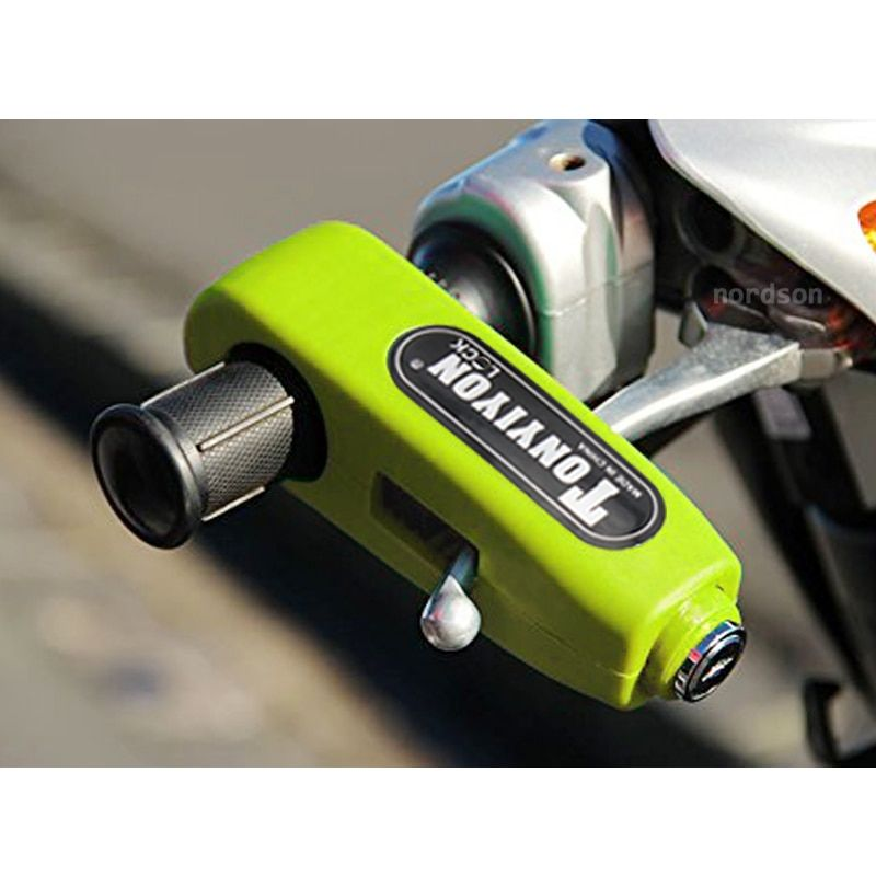 New Universal Motorcycle Handlebar Lock Aluminium CNC Motorbike Handle Theft Protection Lock Brake Throttle Grip Security Lock