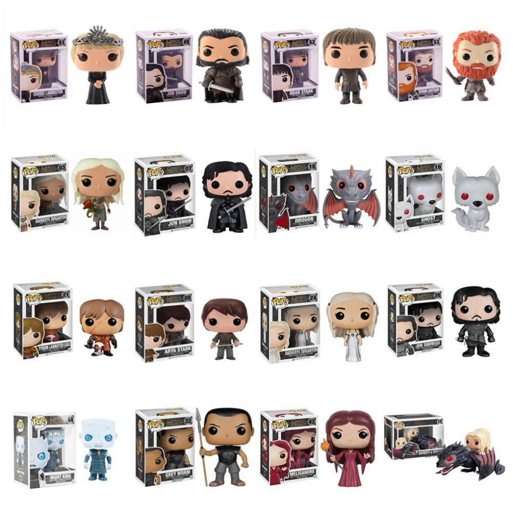 FUNKO POP Game of Thrones Night's King Jon Snow Daenerys Targaryen Drogon Action Figure Collectible Model Christmas Toys