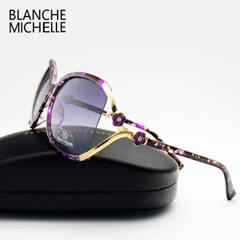 vintage flower polarized sunglasses women brand designer 2017 luxury uv400 oversized sun glasses spots oculos feminino with box