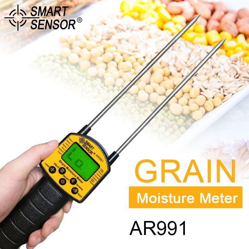 Smart Sensor AR991 Professional Grain Moisture Meter Use for Corn Wheat Rice Bean Wheat Digital Grain Moisture Meter