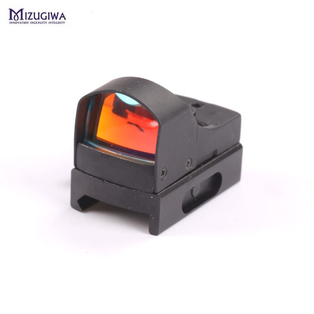 25mm Lens Micro Red Dot Scope Sight For Weaver Picatinny Mount 20mm w/Sunshade Hunting Caza