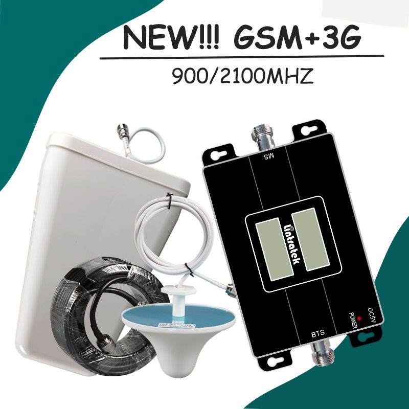 65dB LCD Display GSM 900 3G 2100 mhz Dual Band Repeater GSM 3G UMTS Cell Phone Amplifier 3G WCDMA 2100 Cellular Mobile Booster