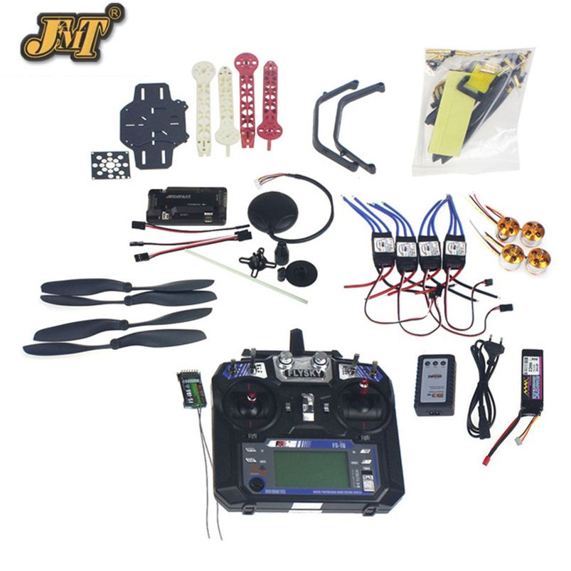 Full Set RC Drone Quadrocopter 4-axis F330 MultiCopter Frame Kit 6M GPS APM2.8 Flight Control Flysky FS-i6 Transmitter Receiver