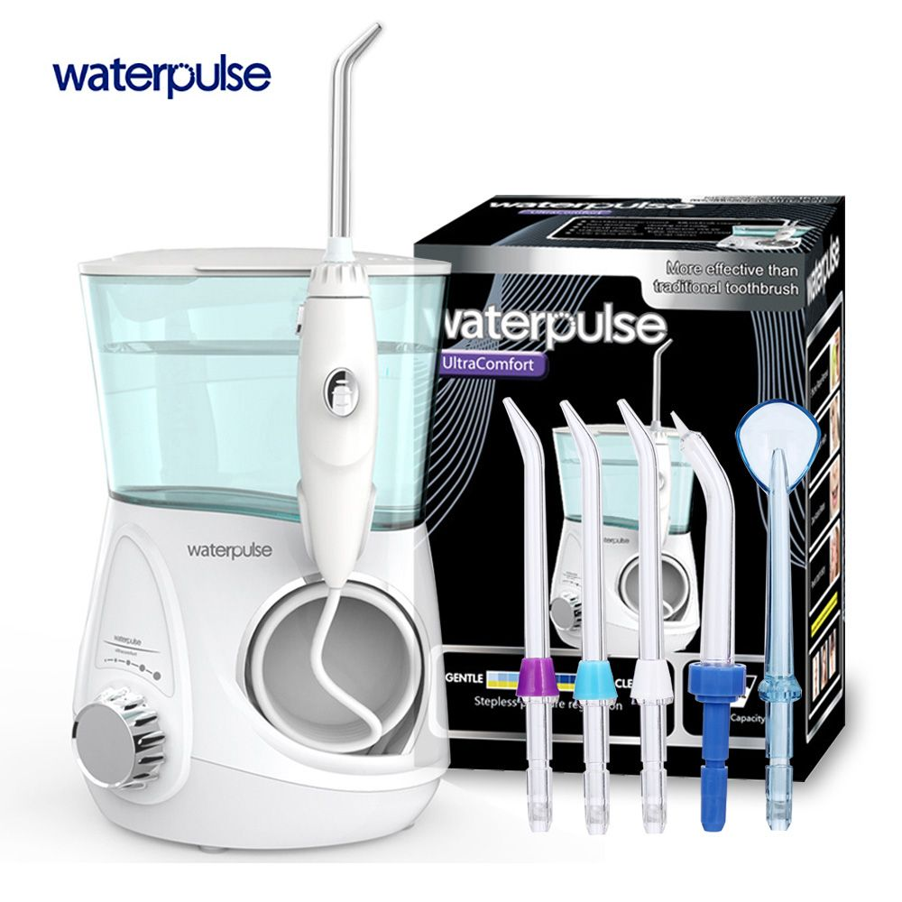 Waterpulse V600G Dental Flosser Oral Irrigator 700ml Water Flosser Dental Floss Dental Water Jet Water Floss Pick Water Floss