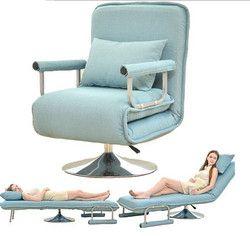 Convertible Sofa Bed 5 Posisi Lipat Lengan Kursi Rekreasi Kursi Ruang Tidur Sofa Ruang Tamu Furniture Futon Kursi