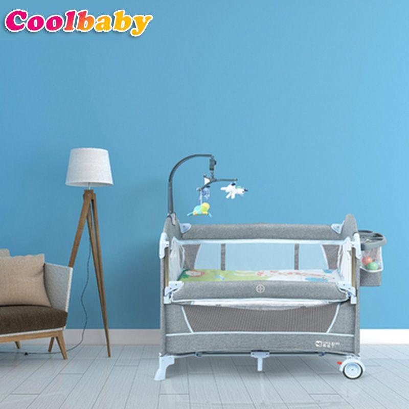 Coolbaby laufstall Hohe qualität faltbare bett für baby, moskito net für babybett, spiel zelt, HWC