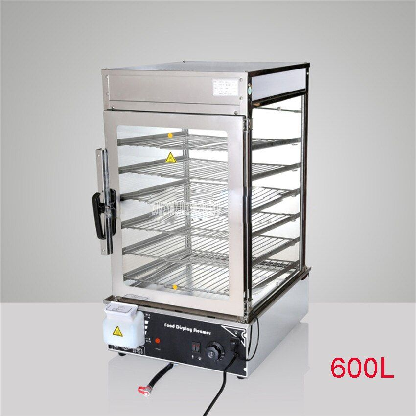 110 V 220 V Electric Bread Sandwich Steam Steamer Electric Stainless Steel Display Display with Tempered Glass Surrounded 600L