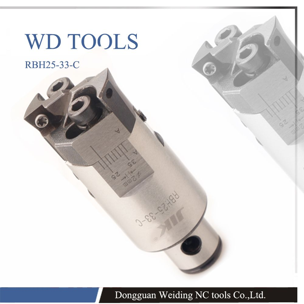 High precision RBH32 42mm Twin-bit Rough Boring Head used for deep holes, 0.02mm Grade