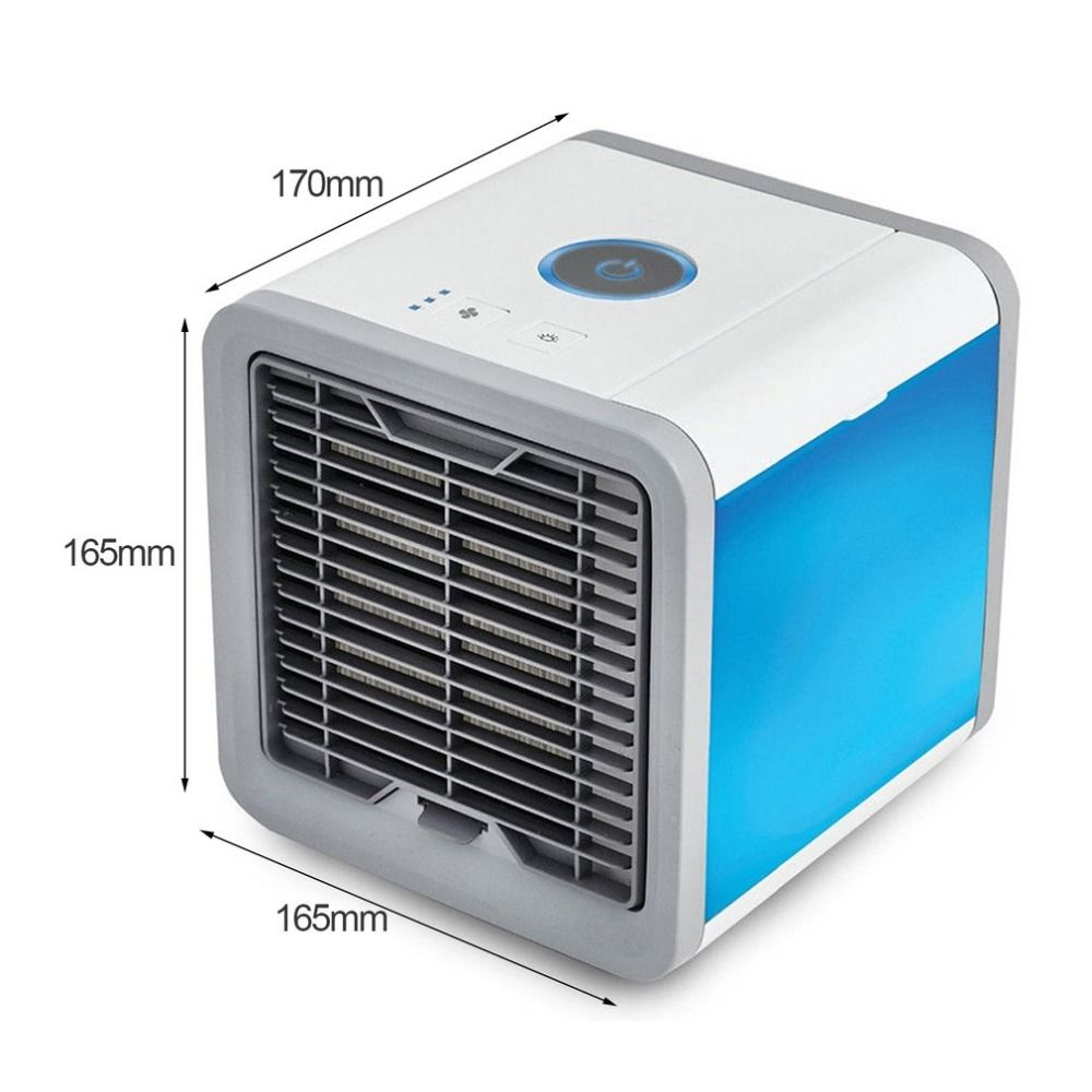LESHP White Usb Cooling Fan Portable Mini Air Conditioner Usb Led Fan Multifunction Cooling Fan for Home Office dropshipping