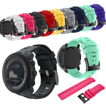 Bracelet for Suunto Ambit 3 Vertical Watch Band Silicone Replacement Wristband for Suunto Traverse Alpha Suunto Spartan Strap
