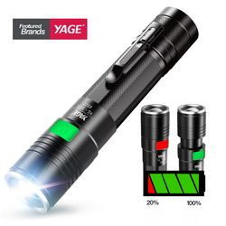Linterna táctica de la antorcha cree led Q5 Lampe Torche Ultra Puissante Taschenlampe Zaklamp Zoom linterna LED USB 18650 Lanterna
