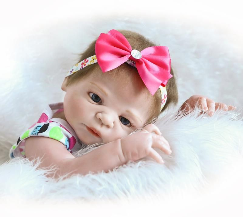 55 cm Volle Silikon Reborn Baby Puppe Spielzeug Simulation NPKCOLLECTION Victoria Baby Reborn Mädchen Baby Puppe Mädchen Brinquedos Baden Spielzeug