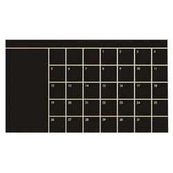 92*60 cm mes calendario pizarra Planner extraíble pegatinas de pared tablero negro Oficina escuela vinilo suministros