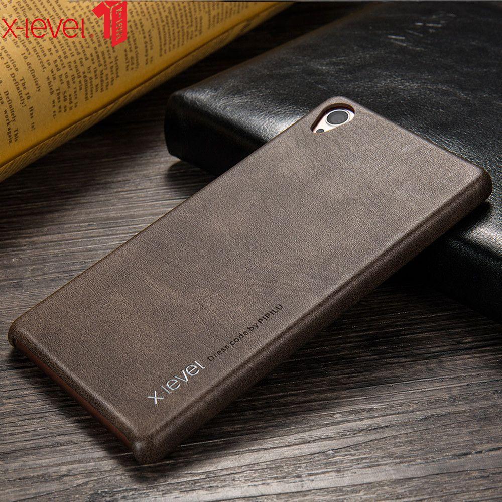 X-Niveau PU Étui En Cuir Pour Sony Xperia Z3 très léger rouge à lèvres de charme D'affaires D'origine Retour coque pour téléphone Cas Pour Sony Z3