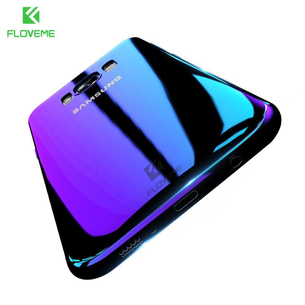 Für Samsung Galaxy S8 Fall, FLOVEME Luxus Blue Ray Licht Fall Für Samsung Galaxy S8 Plus S7 S6 Rand Fall Handy Abdeckung
