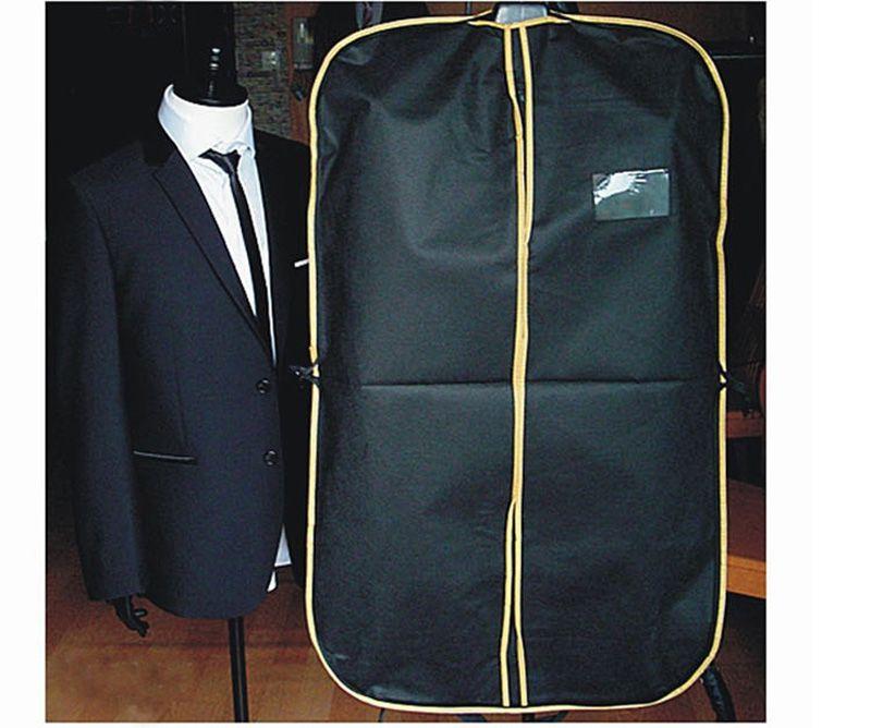 Черный костюм платье пальто рубашка одежды одежда сумка для хранения Путешествия Перевозчик Пылезащитная крышка вешалка протектор