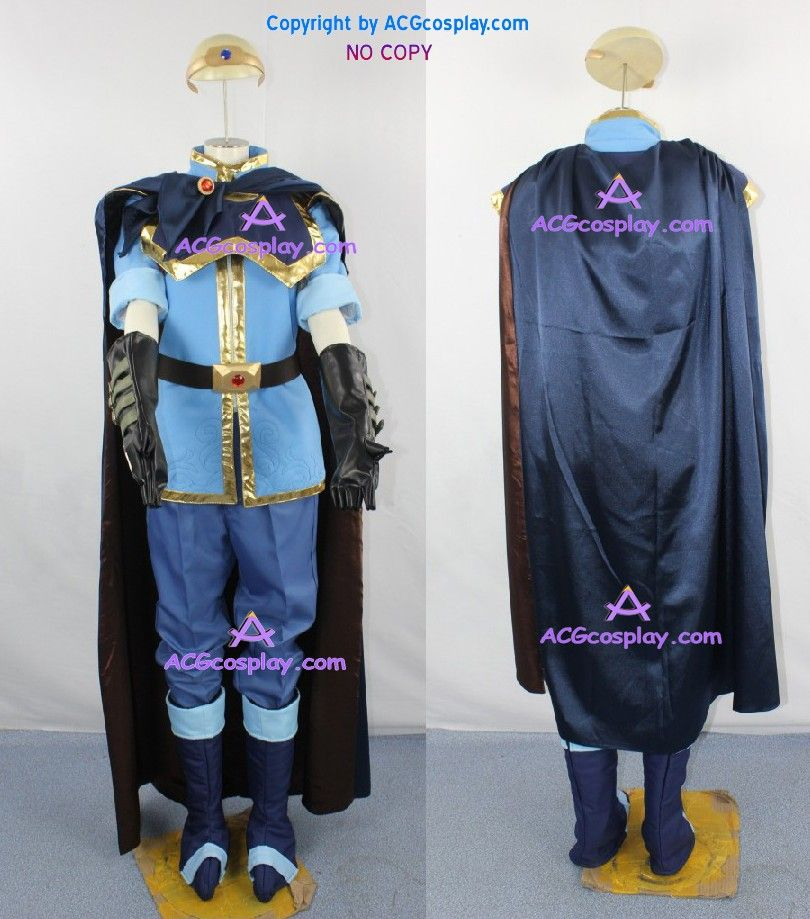 Fire Emblem Super Smash Brothers Brawl Marth cosplay costume incl. belt and headwear prop