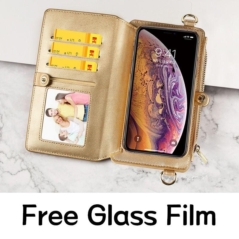 Musubo Bandoulière étui pour iPhone 11 Pro Max Portefeuille En Cuir de Luxe Pour iPhone Xs Max X XR 7 8plus 6 Mini Téléphone Sac Housse