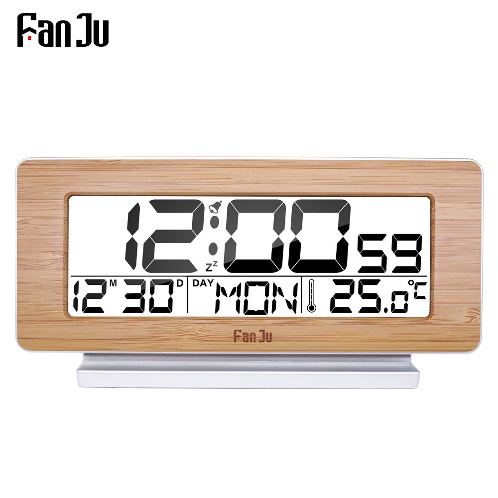 FanJu FJ3523 Digital Alarm Clock LED Electronic 12H/24H Alarm and Snooze Function <font><b>Thermometer</b></font> Backlight Desktop Table Clocks