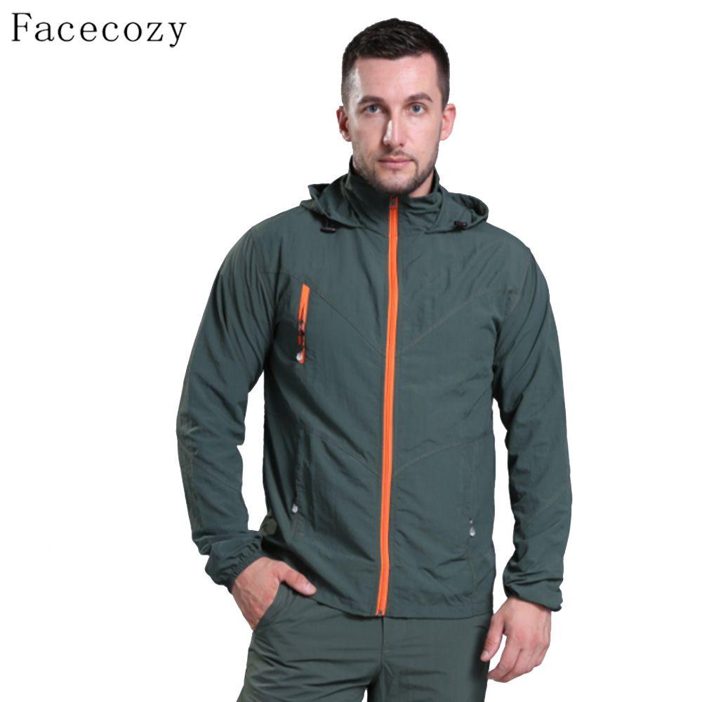 Facecozy Männer Sommer Outdoor Camping Jacke Quick Dry Fishing Kleidung Atmungs Dünne Wandern Jacken
