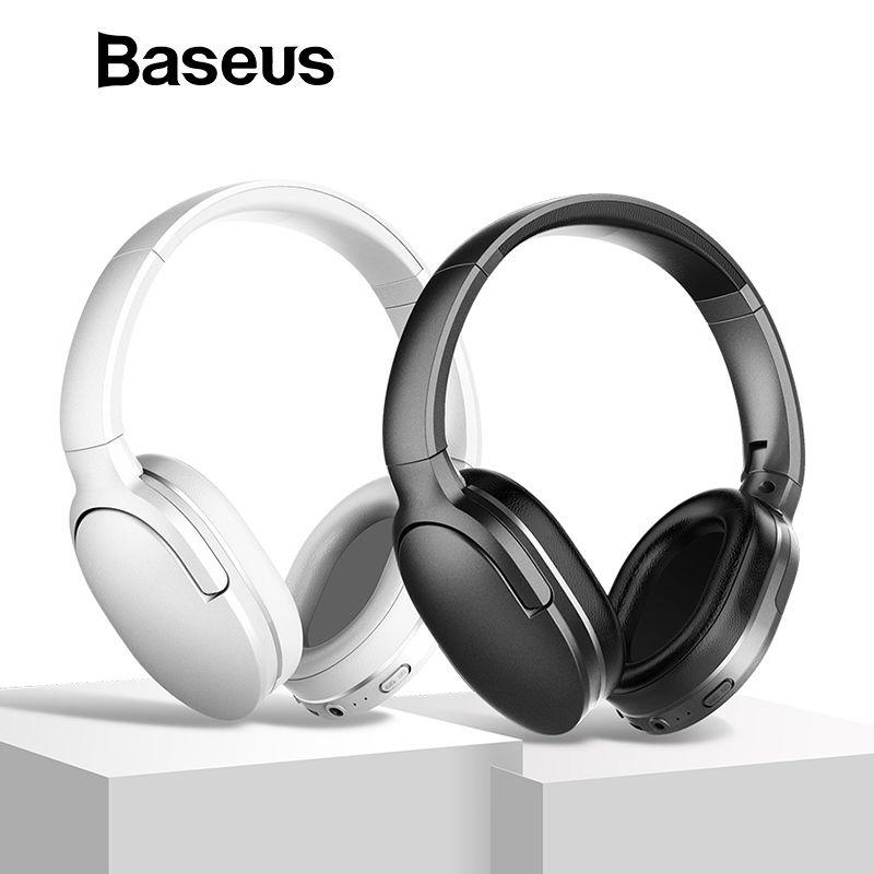 Baseus D02 Bluetooth Kopfhörer, Faltbare 25 Stunden Musik Spielen Drahtlose kopfhörer Tragbare Bluetooth Kopfhörer mit Mic für Telefon